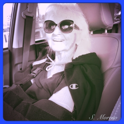 My beautiful Gram - Always joy, regardless of her circumstances. <3