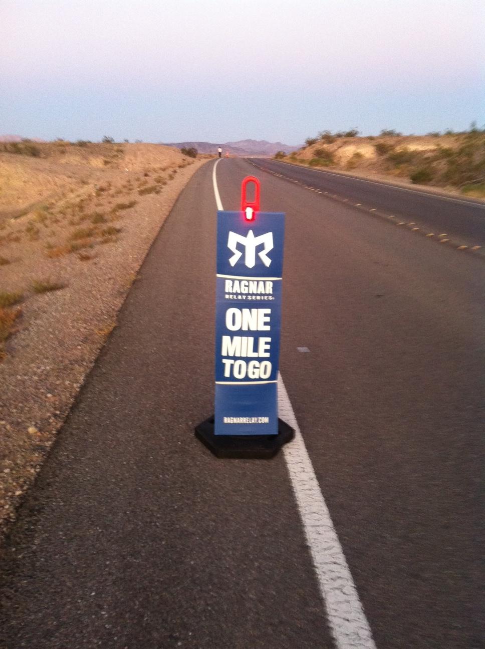 1 Ragnar 1 Mile to go