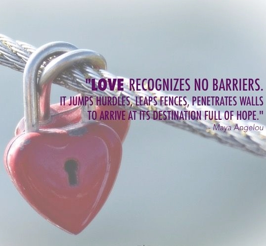Blot Out Barriers to Love